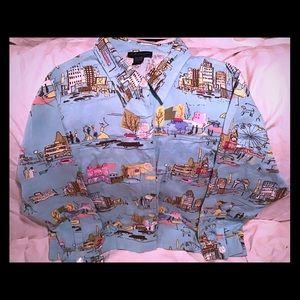 1X Long Sleeved Button Down Shirt Artscapes Unique